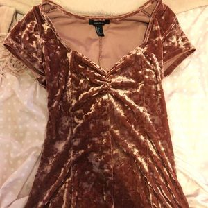 Forever 21 velvet dress
